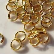 Колечки двойные под золото R-06 5.5 мм (50шт.)