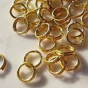 Колечки двойные под золото R-03 3.5 мм (50шт.)