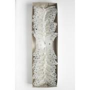 Бабочки декоративные 8,5 см на проволоке белый, 1 шт