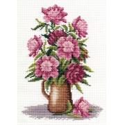 """Набор для вышивания """"Букет пионов"""" С-0152 14.5х22 см"""