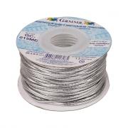 Шнур эластичный 1.5мм GC-015ME серебро (3метра)
