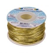 Шнур эластичный 1.5мм GC-015ME золотой (3метра)