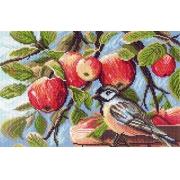 """Канва с рисунком для вышивки крестом 28х37см """"В яблоневом саду"""" 1179"""