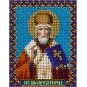 """Набор для вышивания с бисером """"Икона Святителя Николая Чудотворца"""" ЦМ-1338  8.5х11см"""