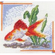 """Набор для вышивания """"Золотая рыбка"""" Д-0190 14х14 см"""