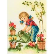 """Набор для вышивания """"Растите цветочки"""" ЖК-2003 11,5х15,5см"""
