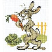 """Набор для вышивания """"Зайка с морковкой"""" 6-068 11х13 см"""