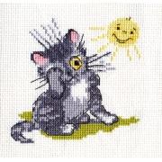"""Набор для вышивания """"Котёнок и солнышко"""" 6-073 11х11 см"""