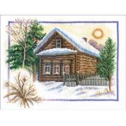 """Набор для вышивания """"Зима в деревне"""" ПС-0333 26х20 см"""
