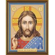 """Ткань с рисунком для вышивания бисером БИС 5001 """"Христос Спаситель"""" 13х17 см"""