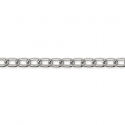 Цепь MA-05 6.2х3.6 мм (1 метр) под серебро
