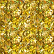 Пайетки ZL 6 мм 10 г Темно-желтый №07