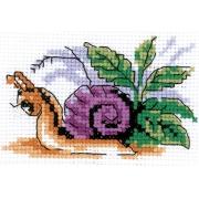 """Набор для вышивания """"Весёлая улитка"""" 6-084 9х7 см"""