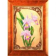 """Набор для вышивания с бисером """"Грациозные орхидеи"""" В-416 17х26см"""