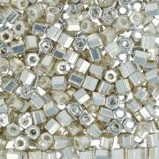 Бисер TOHO 11/0 HEXAGON 5грамм 2.2мм 0558 серебряный