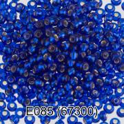 Бисер 10/0 E085 5г синий