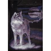 """Набор для вышивания """"Белый волк"""" J-0462 24,5 x 36 см"""