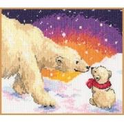 """Набор для вышивания """"Белые медведи"""" 0-26 20х16см"""