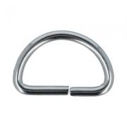 Полукольца металл 15мм никель (6шт.)