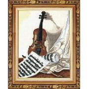 """Набор для вышивания """"Мелодия для скрипки"""" М-22 21х23 см"""