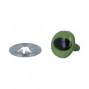 Глазки пластиковые c кошачьим зрачком CAE-12 12мм зеленые (пара)