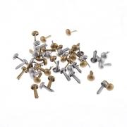 Набор брадс BRD01 4.5х8мм (50шт.) золото/серебро