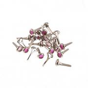 Набор брадс BRD03 6мм (24шт.) розовый