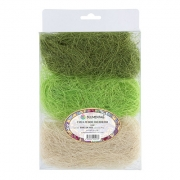 Сизаль (сизалевое волокно) 30гр, белый-с.зеленый-т.зеленый