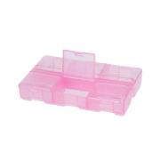 Контейнер для хранения Т-178 (1шт.), розовый/прозрачный