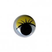 Глазки бегающие пластиковые MER-12 12 мм желтые (10 шт)