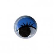 Глазки бегающие пластиковые MER-12 12 мм синие (10шт.)
