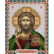 """Набор для вышивания с бисером """"Икона Господа Вседержителя"""" ЦМ-1819 8.5х11см"""