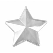 """Заготовка для декорирования 3913337  """"Звезда"""" пластик, 14см прозрачная"""