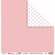 """Бумага для скрапбукинга  190 г/м2 30.5x30.5 см, 103 """"Крупные точки"""" (2листа)"""
