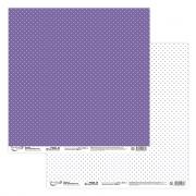 """Бумага для скрапбукинга  190 г/м2 30.5x30.5 см, 206 """"Мелкие точки"""" (2листа)"""