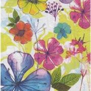"""Салфетка """"Акварельные цветы-5"""" (3 шт.)"""