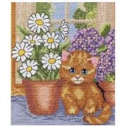 """Набор для вышивания """"Кот на окошке"""" 8-005 15х18см"""