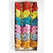 Бабочки декоративные 6 см на проволоке ассорти, 1 шт.