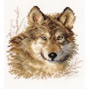 """Набор для вышивания  1-27 """"Волк"""" 12х12 см"""