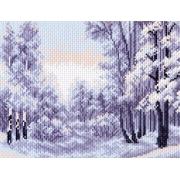"""Канва с рисунком для вышивки крестом 28х37см """"Зимний лес"""" 1402-1"""