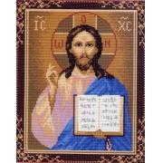 """Канва с рисунком для вышивки крестом 28х37см """"Господь Вседержитель"""" 0721-1"""