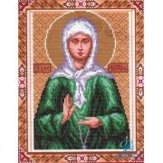 """Канва с рисунком для вышивания крестом 0722-1 Г """"Св. Матрона"""" 28х37 см"""