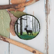 """Набор для вышивания JK-2146 """"Брошь. Лесной олень"""" 5,5 x 5,5 см"""