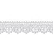 Гипюр GGM-3501 35 мм, белый, 1 метр