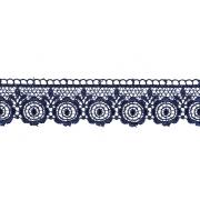 Гипюр GGM-3501 35 мм, синий, 1 метр