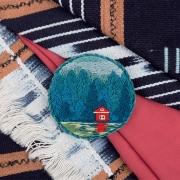 """Набор для вышивания JK-2145 """"Брошь. Дом у озера"""" 5,5 x 5,5 см"""