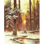"""Набор для вышивания """"Закат в снежном лесу"""" ВХ-1076 24х31см"""