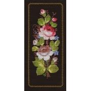 """Набор для вышивания """"Жостовские розы"""" 8-050 16,5 x 38,5 см"""