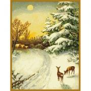 """Схема для вышивки """"Вечер в зимнем лесу"""""""
