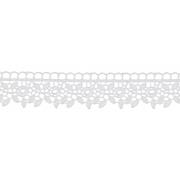 Гипюр GGM-3001 30 мм, белый, 1 метр